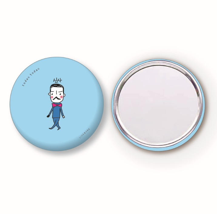 Custom made tin makeup mirror / beautiful printing pocket mirrors