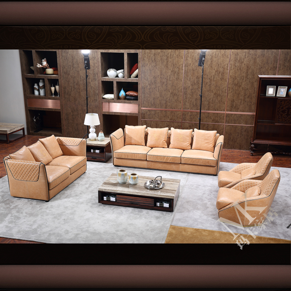Foshan China Factory Direct Sale Quilted Leather Sofa Cover Color