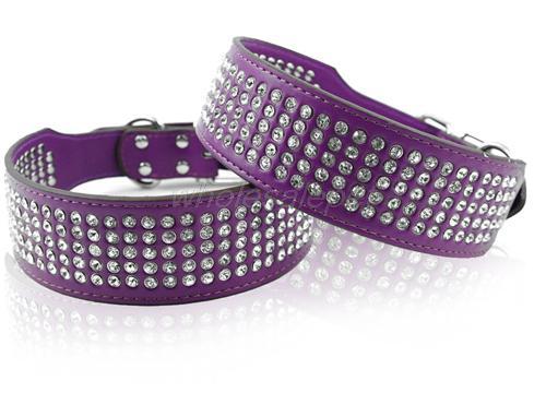 MOQ:1pcs משלוח חינם נשלח באותו יום האופנה ריינסטון הקולר למכור חם PU עור הכלב colllar