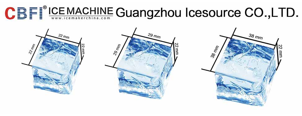Large ice cube machine with packing system for Malaysia