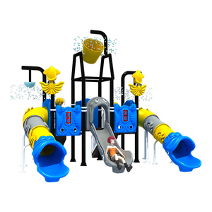 ocean animal theme Jungle Gym Outdoor Amusement Park Water Playground equipment for kids