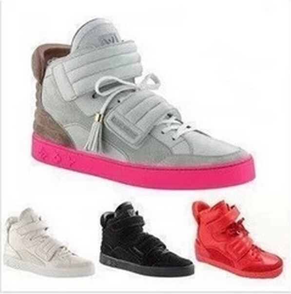 65b0cbc4266 Get Quotations · Woman Kanye West Sneakers men s Kanye West Yeezy Shoes  Jasper Suede Double Strap High Top Sneakers