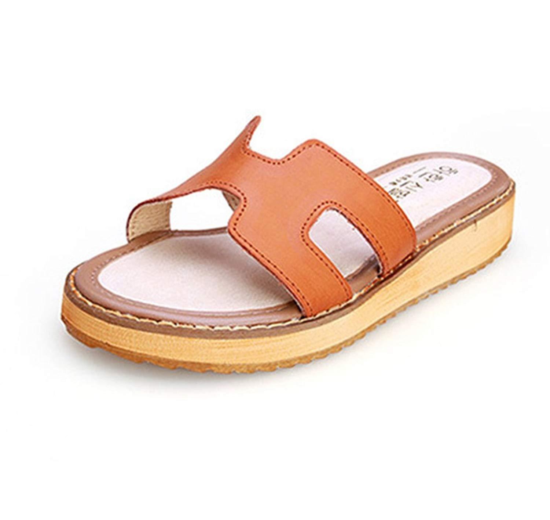 aeeb983e2f5f1 Get Quotations · Zarbrina Thick Bottom Flat Platform Slides Sandals for Womens  Open Toe Casual Soft Non-Slid