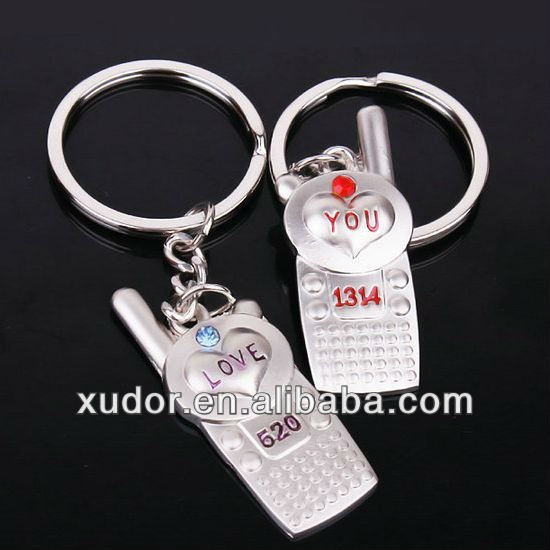 FUNNY METAL KEYCHAIN CELL PHONE