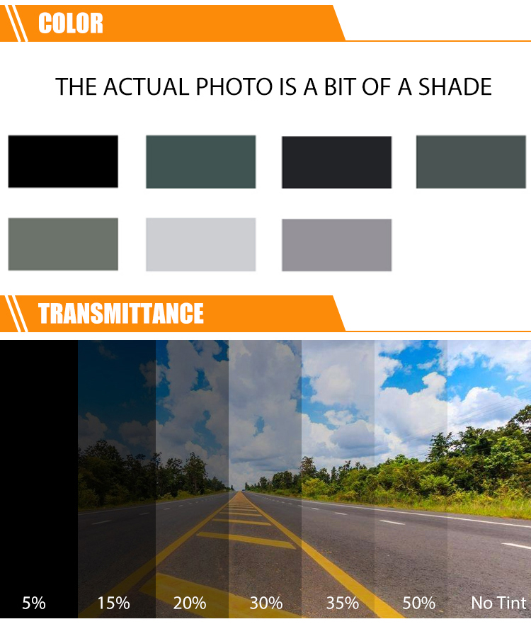 On sales 15%VLT automobile solar car window tint film with anti scratch function