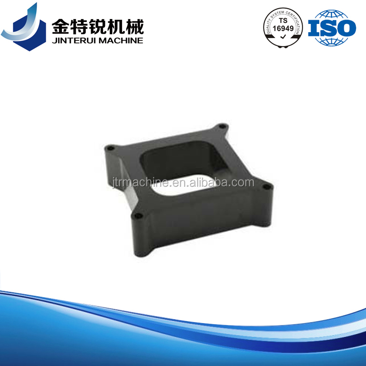 aluminum cnc machined spacer part with black anodized trike bike parts