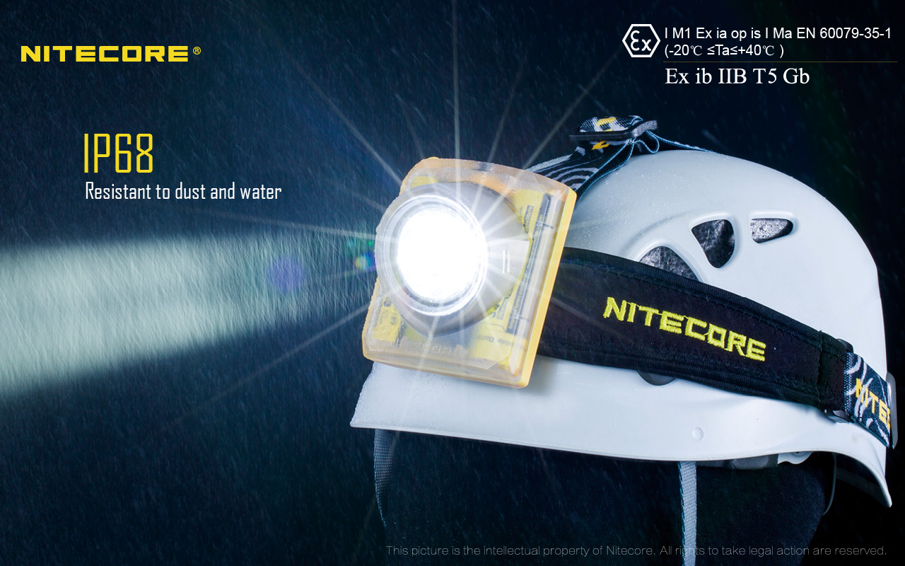 NITECORE EH1 mine explosion proof ATEX safety 260 lumens super bright headlamp