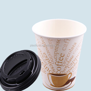 Espresso Disposable 8oz Paper Cup With Lid Sw Hot Coffee Or Tea