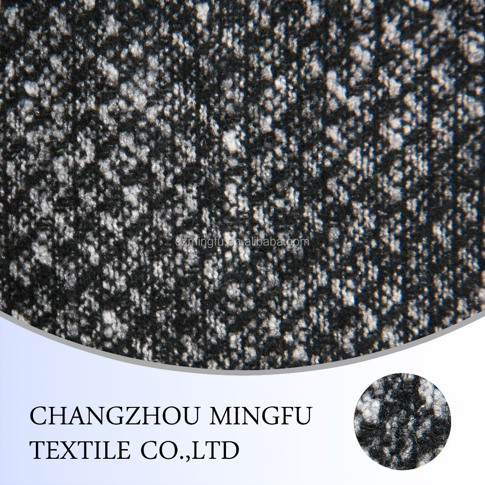 11s black yarn dyed twill cashmere wool fabric, tweed fabric