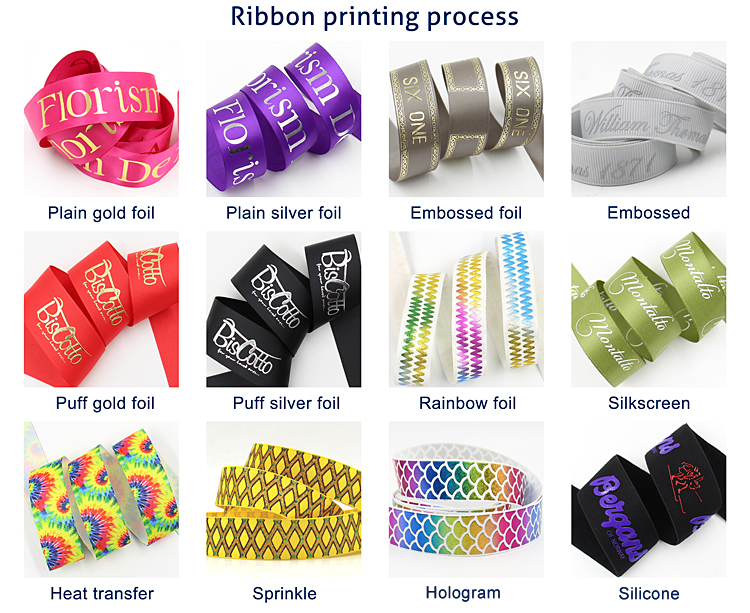 75mm Grosgrain Ribbon Laser Foil Ribbon