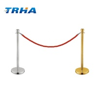 Queue Line Barrier Hotel Used Rope Stands Crowd Control for sale