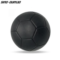 Official Size 5 Custom Football Whole Black Soccer Ball