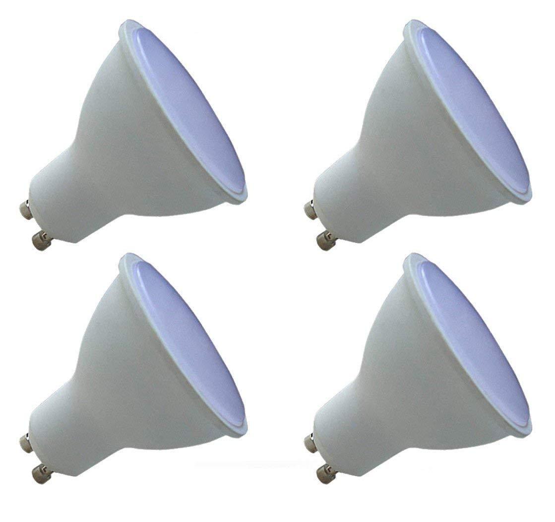 CTKcom GU10 MR16 LED Light Bulbs(4 Pack)- 3W MR16 LED Downlight 35W Halogen Bulb Equivalent Warm White 3000K Ultra Bright 120 Degree Beam Angle Bulb Track Lighting,270LM,AC85~265V,Pack of 4