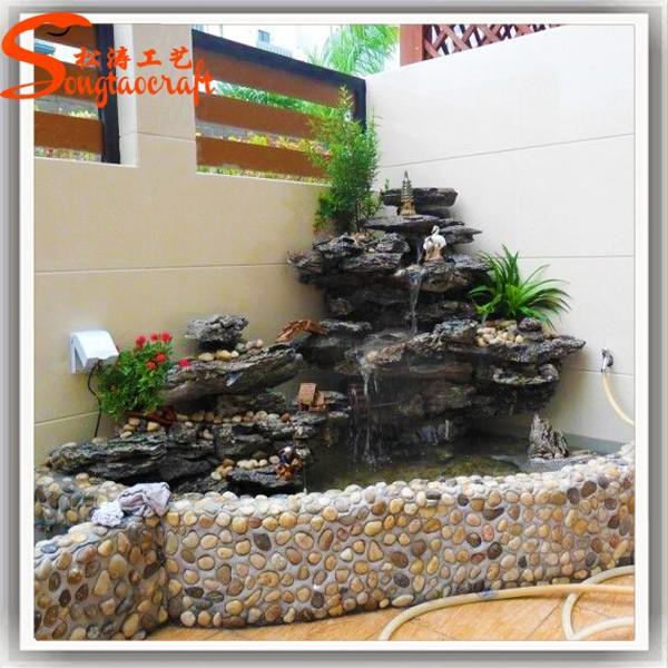 L 39 h tel d corative fontaines d 39 eau en fiber de verre for Fontaine interieur bambou