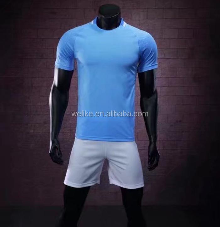 c26ba0e4c91 Light blue soccer jersey uniform club team football shirts custom sports  jerseys