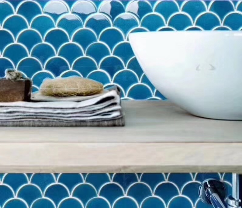 Mosaic ceramic materil for swimming pool tile and bathroom