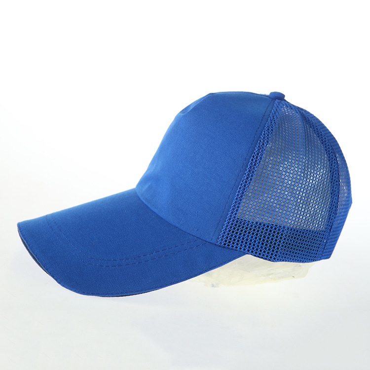 ed35053a Wholesale polyester 5 panel blank cool off mesh back trucker hats cap