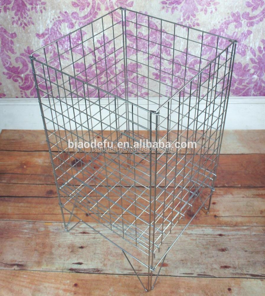 Stacking wire mesh basket wire storage baskets