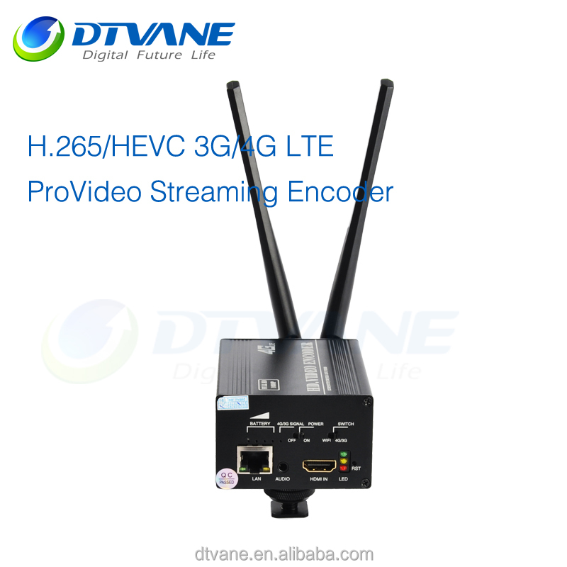 IPTV Broadcasting System H.265 IPTV Encoder For 3G 4G With LTE Battery And Wifi Video Monitoring