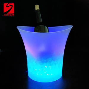 Custom clear plastic LED ice beer bucket for wholesale