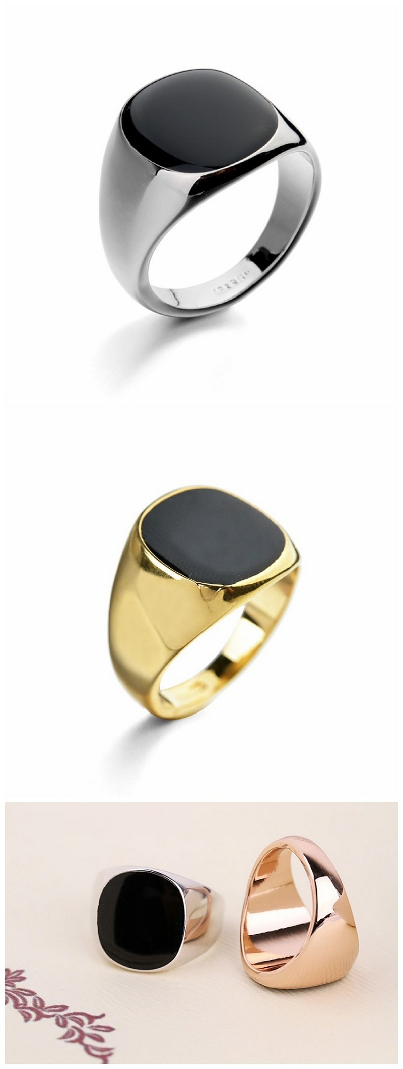 Accept small order Factory directly wholesale beautiful index boys simple design finger ring designs men rings