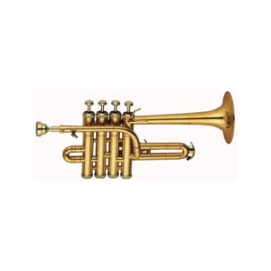 Gold Lacquer Body Piccolo Trumpet