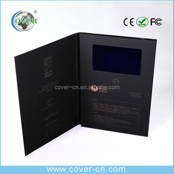 New products wedding business invitation lcd video greeting card & display IPS lcd
