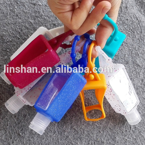 30ml mini cute hand sanitizer bottle silicone holder
