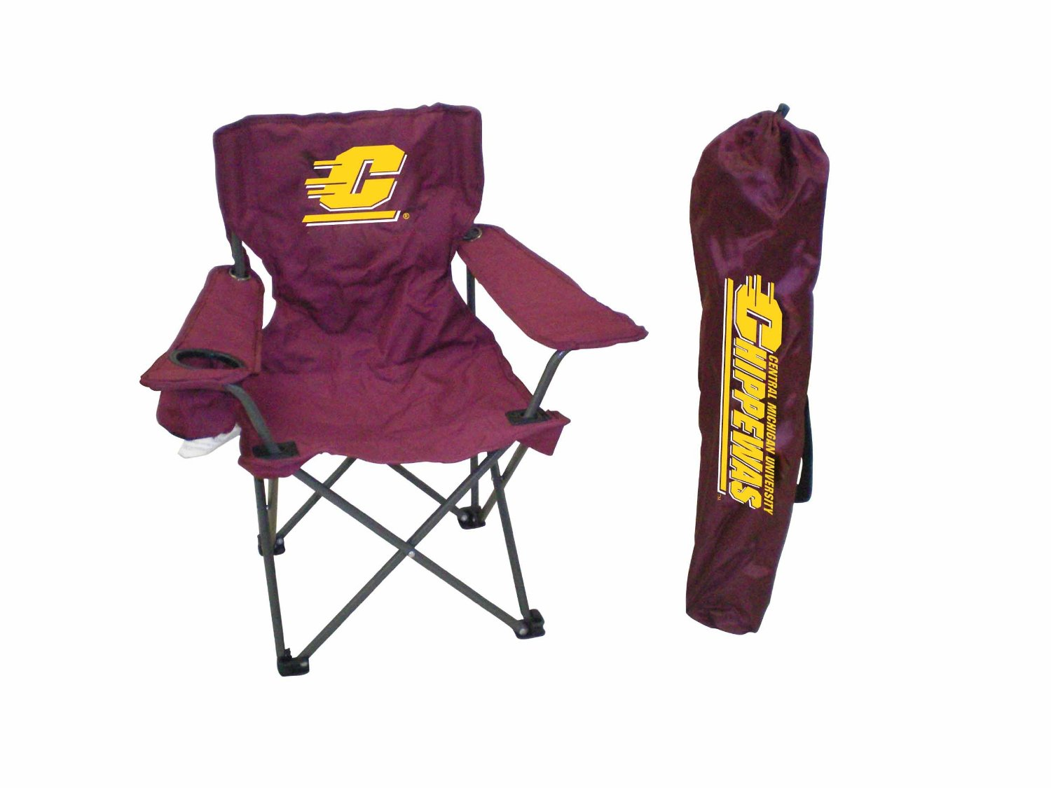 Rivalry NCAA Central Michigan Chippewas Youth Folding Chair With Carrying Case
