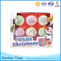 Personalized custom decorative christmas ball plastic chinese christmas ornament