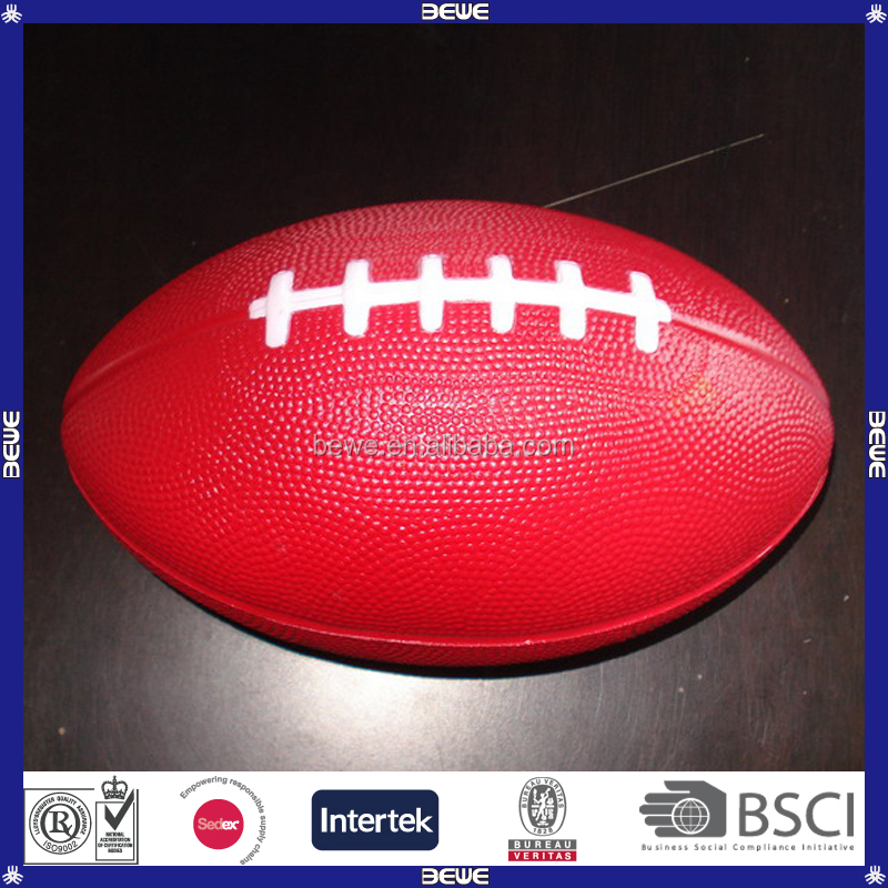 Promotional Soft Logo Printed PU Rugby Stress Ball