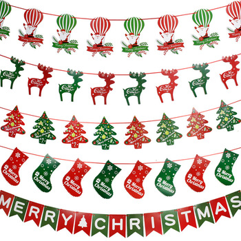 outdoor hanging small flags for christmas decoration decorative flags on string - Decorative Christmas Flags