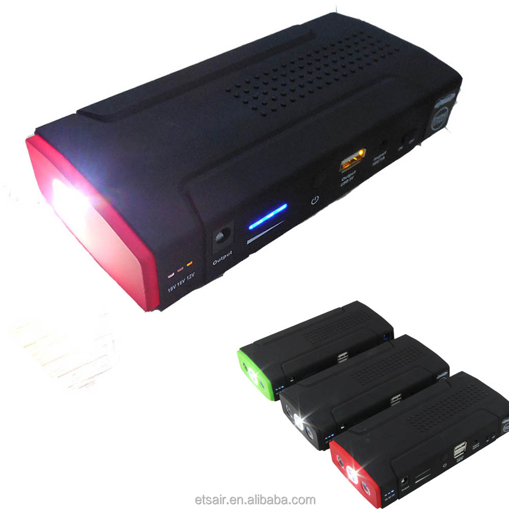 Auto Charger Car Jump Starter 16500mAh Emergency Tool Kit For All Cars