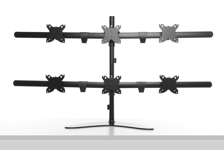 Multi Screen Bureau Beugel/Monitor Arm Gratis Stand Zes Lcd-monitoren opknoping