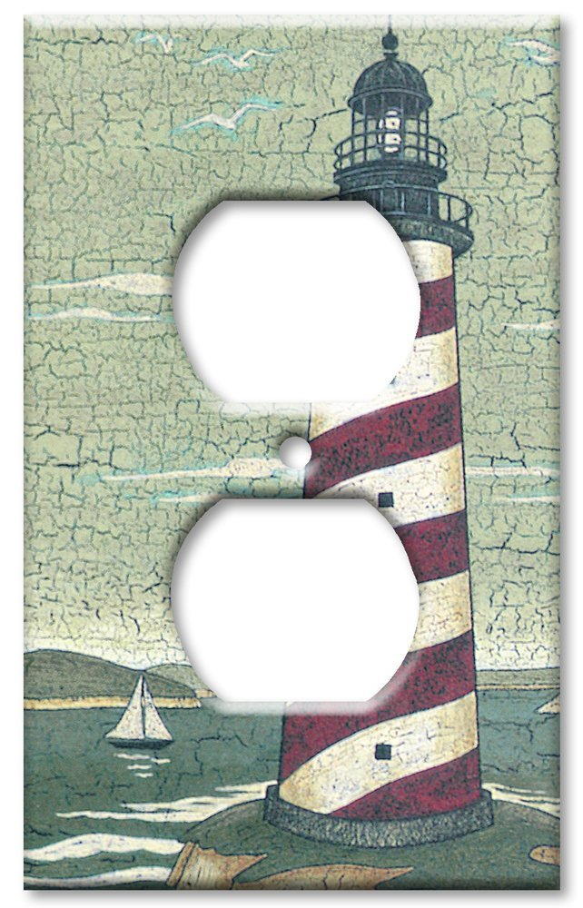 Art Plates - Outlet Cover OVERSIZE Switch Plate/OVER SIZE Wall Plate - Cape Lighthouse