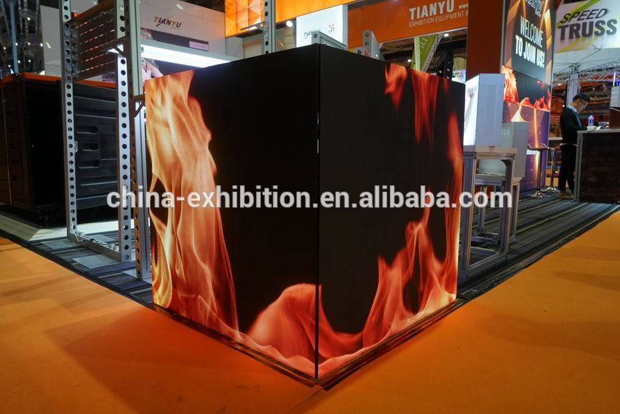trade show booth China led display used indoor