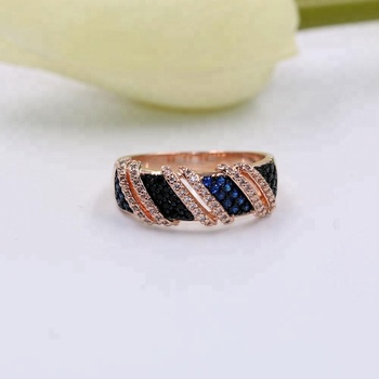 Copper Simulated Diamond Solid Real Platinum Plated Wedding