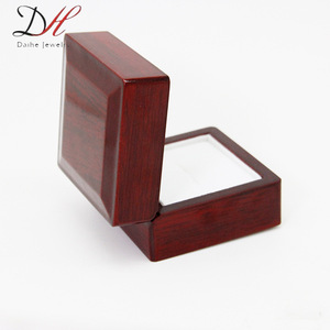 Daihe High-Grade Wooden Ring Boxes Painted Ring Display Box BX0001 For Championship Ring Factory