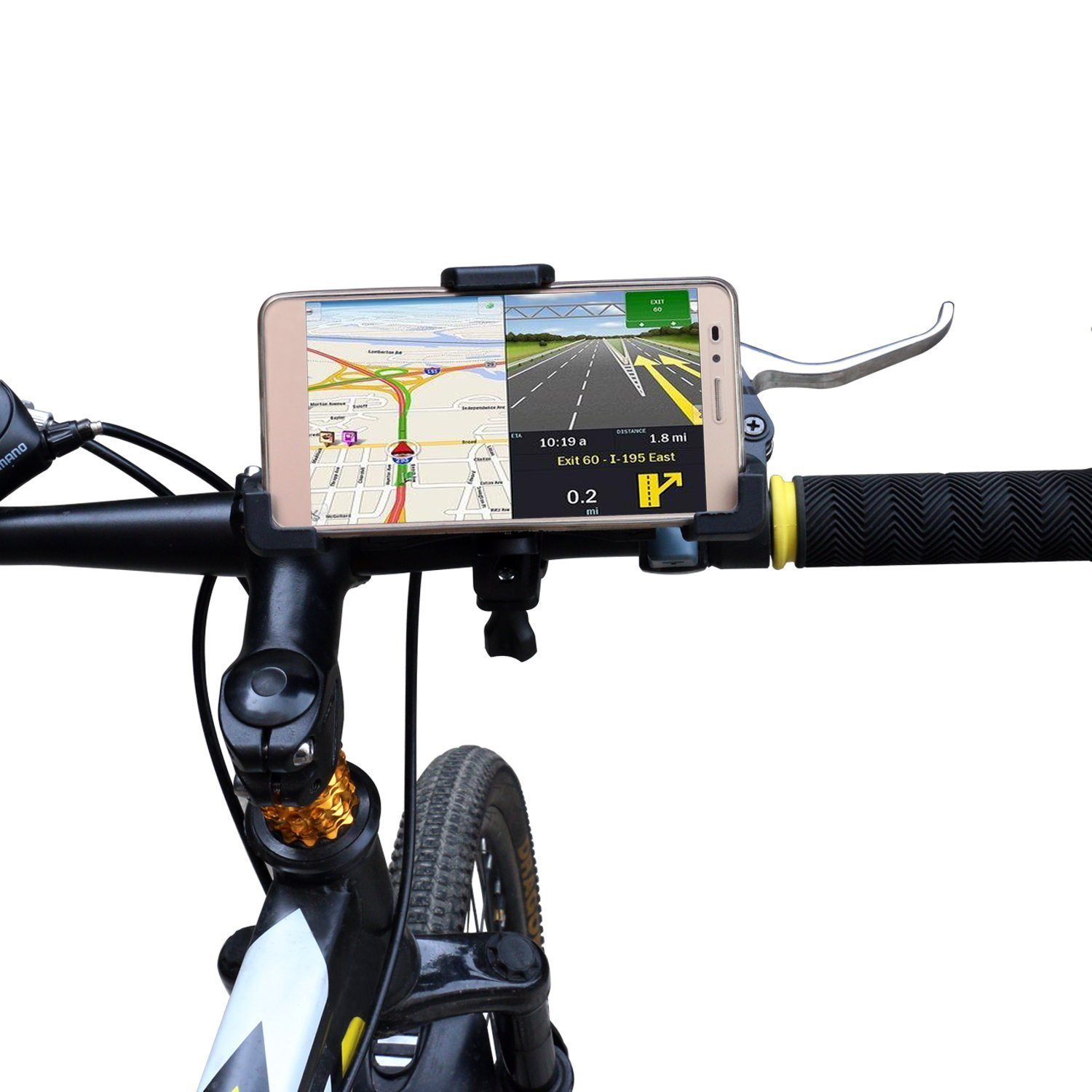 Bike Phone Mount Holder,GULAKI Bicycle Motorcycle Handlebar Mount for iPhone 7 Plus,6S,5S,5C,4S,iPod touch,Galaxy S7,S6,Samsung Note 6/4,Google Nexus 4,GPS,Camera