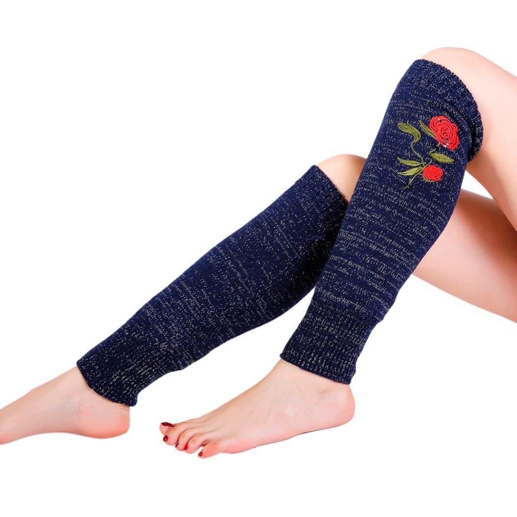 e8789fb664192 Get Quotations · Calf Leg Warmers,Hemlock Womens Girl's Warm Leg Socks  Leggings Warmers Rose Stockings Boot Cuffs