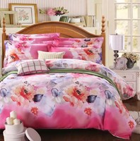wholesale printed comforters microfiber bed sheet bedding set