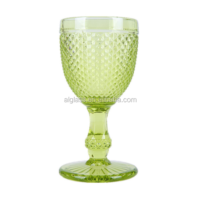 Embossed thick stem wine glass buy embossed wine glass thick stem wine glass wine glass - Wine glasses with thick stems ...