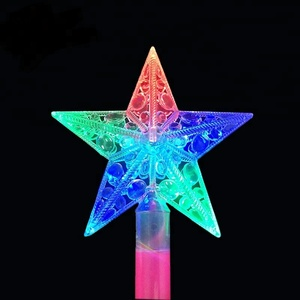 Led Princess Flashing Magic Wand Light Up Wand Plastic Stick Kids Toy for Parties and Events