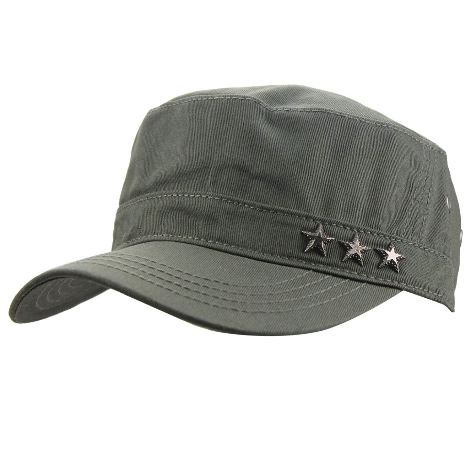 eYourlife2012 Mens Cotton Stars Flat Top Military Army Travel Sports Sun Baseball Hat Cap Hats