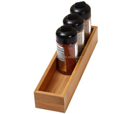 Multifunction Rectangular Bamboo Desktop Organizer Box for cutlery Stackable