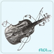 Custom Artistic Violin Arrow Leaf Metal Crown Wall Decoration