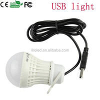 5 Volt Portable USB Powered LED Light Lamp for night reading camping DC 5V 5W USB LED Light Bulb