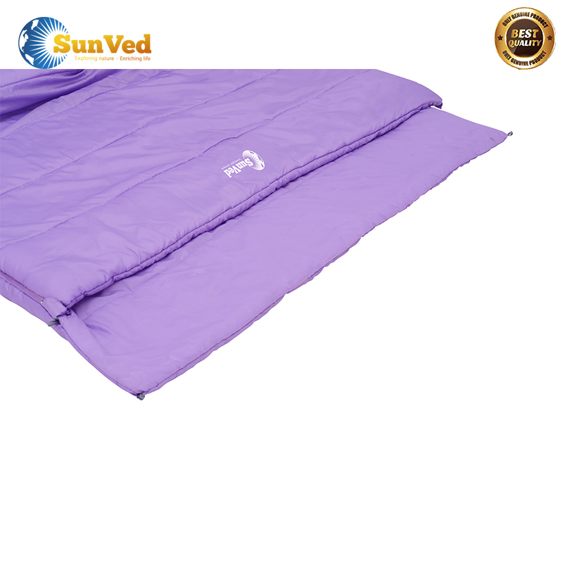 Portable camping outdoor compact sheepskin sleeping bag