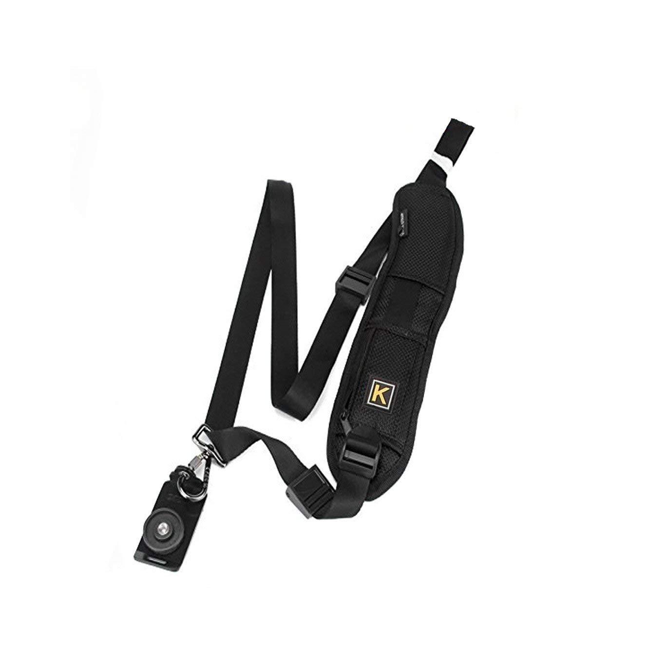 Adjustable Camera Strap Belt Shoulder Belt Camera Waist Strap Black Neck Belt Nylon Holder for Camera