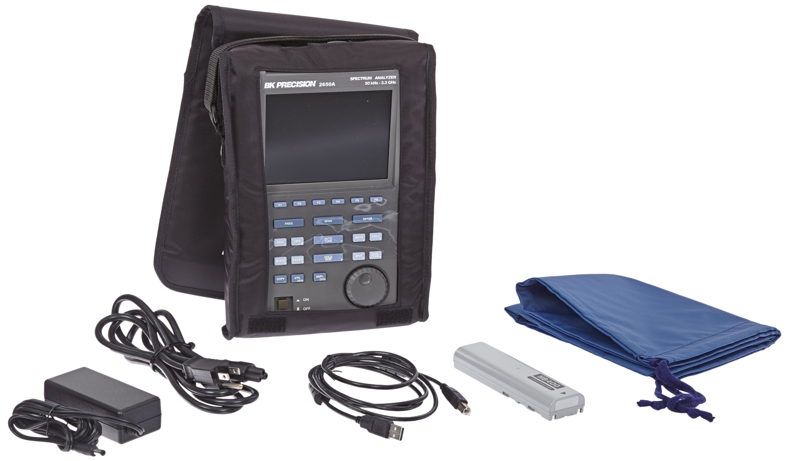 B&K Precision 2650A Handheld Spectrum Analyzer, 50 kHz - 3.3 GHz Frequency